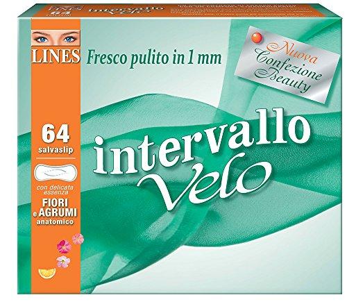 Lines Intervallo Velo Fiori&Agrumi x64 - Salvaslip distesi