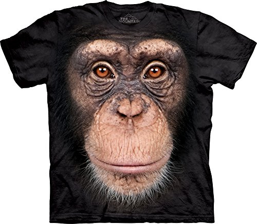 Chimp Face T-Shirt-L Black