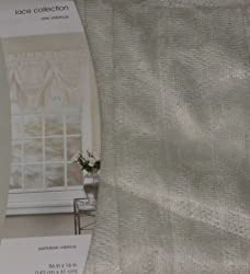 Home Lace Collection Ivory Pantaloon Window Valance Curtain Topper