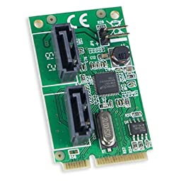 Mini PCIE to Dual SATA III Adapter with Power
