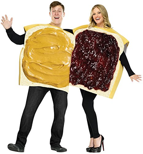 Peanut Butter & Jelly Adult Couple Costume