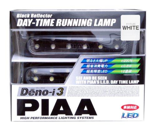 PIAA ( ピア ) LEDデイタイムランプ 【Deno-i 3】 ホワイト12連 12V 2個入り L-223W