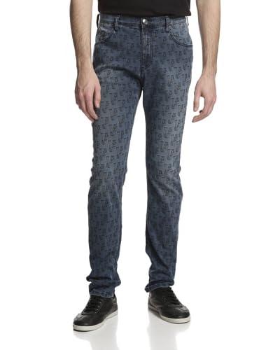 Versace Jeans Men's Patterned Skinny Jeans