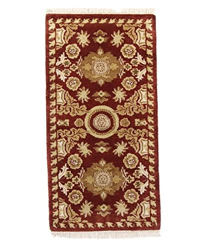 F.J. Kashanian Rugs One-of-a-Kind Arlen Rug, Red/Red, 2′ 1″ x 4′