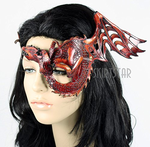 Handcrafted Leather Dragon Mask