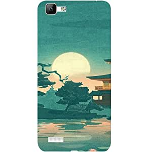 Casotec Vintage Castle Pattern Print Design 3D Printed Back Case Cover for Vivo V1