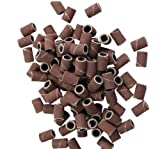 SODIAL(TM) 100 Pcs Sanding Bands for Nail Drill Bits Manicure