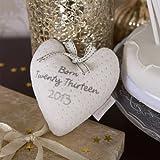 Izziwotnot Premium Gift Keepsake Heart (Cream)