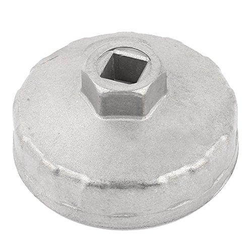 Metal 14 Flutes Car Oil Filter Socket Wrench Cap Tool 74mm