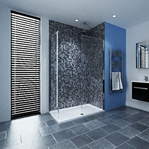 Walk In Bathroom Shower Enclosure 1600 X 800 Tray With 2 X 800 8mm Toughened