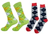 Fancy Colorful Dress Socks Cotton Socks for men - 2 PAIR - AD003 / AD041