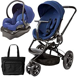 quinny cv078bfp moodd stroller travel system with diaper bag and car seat blue. Black Bedroom Furniture Sets. Home Design Ideas