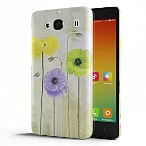 Koveru Designer Protective Back Shell Case Cover for Xiaomi Redmi 2 - Lily Flower Pattern