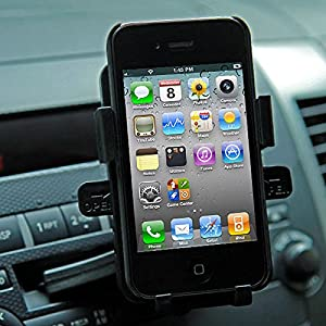 Yozzy Universal Mobile Smartphone Cell Phone Car Mount Cd Slot Holder Cradle - Fits Iphone 4/5 Samsung Galaxy S5 S4 S3 Note 2 3 HTC One M7 Google Nexus 4 5- Black
