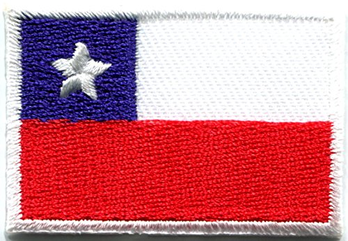 Flag of Chile Chilean South America embroidered applique iron-on patch new size Medium генератор инверторный patriot 2000i