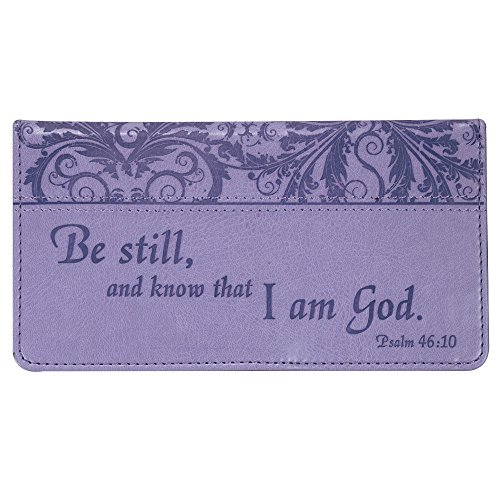 Psalm-4610-Purple-Checkbook-Cover