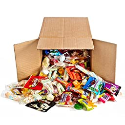 Ultimate Halloween Kids Party Mix, 4 Lb Bulk Box Assorted Hi Chew, Hot Tamales, Starburst, Skittles, Lifesavers, Black Forest Fruit Snack, Mike n Ike, Jolly Rancher, Lollipops Loaded Hard & Soft Candy
