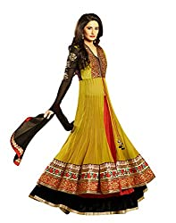 Indiweaves Womens Pure Georgette Multi-Colored Dress Material