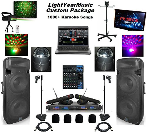 LYM DJ/Karaoke approved system, speakers, light show!!! 5000 Watts