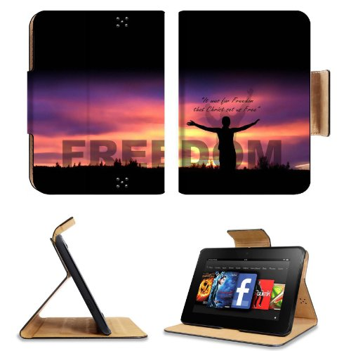 Christ Will Set Us Free Amazon Kindle Fire Hd 7 [Previous Generation 2012] Flip Case Stand Magnetic Cover Open Ports Customized Made To Order Support Ready Premium Deluxe Pu Leather 7 11/16 Inch (195Mm) X 5 11/16 Inch (145Mm) X 11/16 Inch (17Mm) Msd Profe