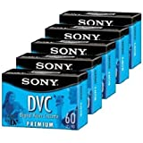 Sony DVM60PRL Premium MiniDV 60min Data Tape Cartridge 5 Pac
