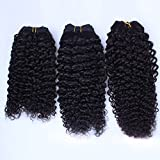 Junhair 5A Peruvian Virgin Human Hair Weave Kinky Curly 1pcs/lot 100gram Natural Colour