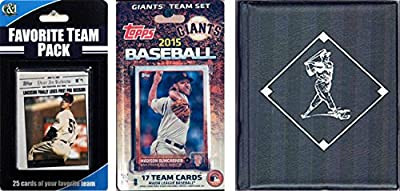 MLB San Francisco Giants Men's Licensed 2015 Topps Team Set and Favorite Player Trading Cards Plus Storage Album