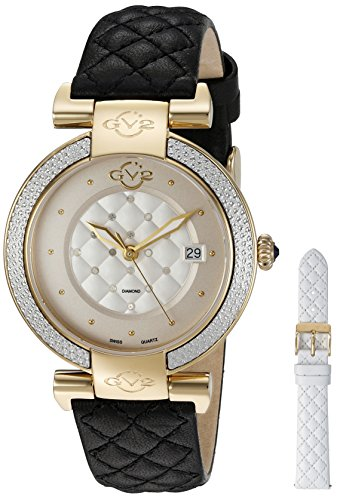 GV2-by-Gevril-Womens-1503-Berletta-Analog-Display-Swiss-Quartz-Black-Watch