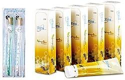 Korean Atomy Propolis ALL Natural Toothpaste (200gx5pcs) + Atomy High Quality Super Slim Bristles Toothbrushes (2pcs)