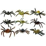 8 x Kunststoff Spinne Kunststoffspinne Spider sortiert - 7-9 cm