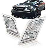 2008 - 2010 Mercedes Benz C-Class W204 Clear Side Marker Bumper Lights