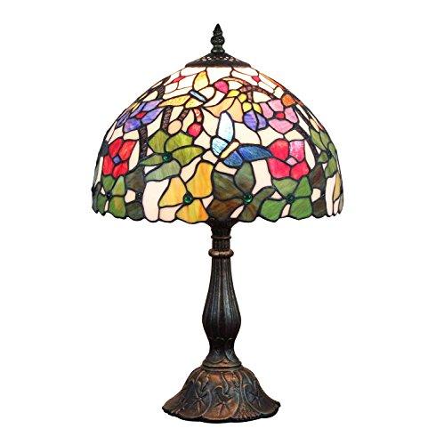 AIFUDE 12-Inch American Country creativa Retro Lampada Tiffany fiore fiore Handmade Lampada Tiffany