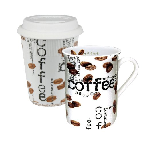 Konitz To Stay/Go Mugs, Coffee Collage, Set of 2