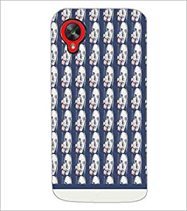 PrintDhaba Face pattern D-1533 Back Case Cover for LG GOOGLE NEXUS 5 (Multi-Coloured)