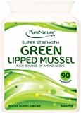 90 Green Lipped Mussel Super Strength And High Quality Capsules Supports Relief Of Arthritis And Joint Pain Made In UK & Free UK Delivery