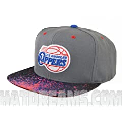Los Angeles Clippers SPLATTER SNAPBACK Mitchell & Ness Adjustable HWC NBA Hat by Mitchell & Ness