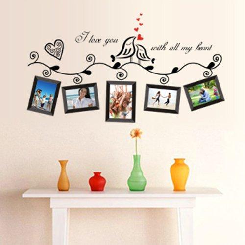 anself stickers muraux naturel paroi murale de fleur et. Black Bedroom Furniture Sets. Home Design Ideas