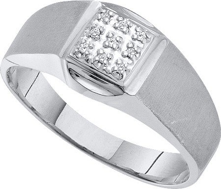 DIAMOND RING 0.03CT DIAMOND FASHION MENS RING GX0209/W Size O