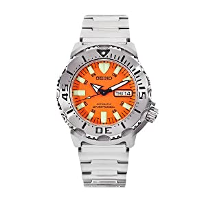 "Seiko Men's SKX781 ""Orange Monster"" Automatic Dive Watch"