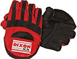 DIXON Unisex Leather Keeping Gloves Red (Red)