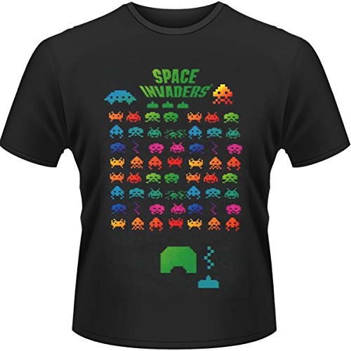 Plastic Head Men's Space Invaders Colours Banded Collar Short