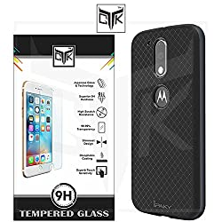 """TGKâ""""¢ Combo for Motorola Moto G PLUS 4th Gen (Combo of 1 Original iPaky Cover + 1 TGKâ""""¢ HD Tempered Glass) - Original iPaky Luxury High Quality Ultra-Thin Silicon Inner Black Back + PC Frame Bumper Back Case Cover (Graphite Grey) + TGKâ""""¢ Premium HD Tempered Glass Screen Protector With Rounded Edges (Not Compatible With Motorola Moto G 4th Gen)"""