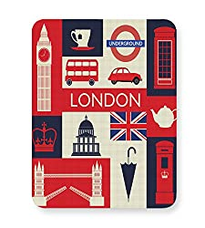 PosterGuy London City Illustration Travel, Art, Pop Art Mouse Pad