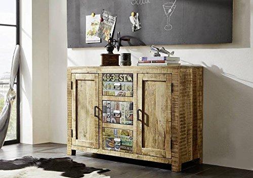 Mango de madera maciza muebles de madera maciza lacada cómoda Vintage muebles de madera maciza para pared Detroit #44