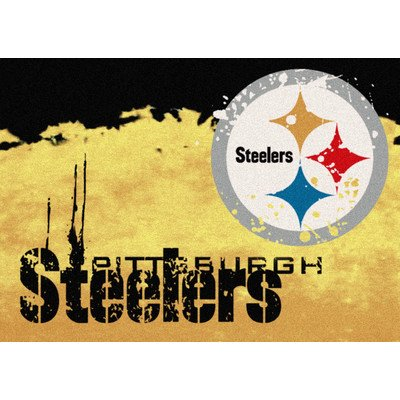 "NFL Team Fade Novelty Rug Rug Size: 3'10"" x 5'4"", NFL Team: Pittsburgh Steelers"