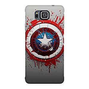 Cute Premier Blood Round Multicolor Back Case Cover for Galaxy Alpha