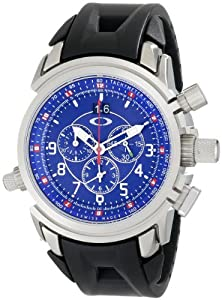 Oakley Men's 10-060 12 Gauge Chronograph Brushed Blue Watch