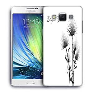 Snoogg Simple Text White Designer Protective Phone Back Case Cover For Samsung Galaxy A7