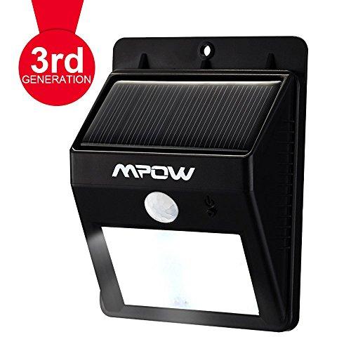 Mpow Luci Solari Lampada Wireless ad Energia Solare da Esterno con 8 Lampadine LED di Sensore di Movimento, per Parete / Giardino / Cortile / Scale / Muro, con Funzione di Dusk to Dawn Dark Sensing Auto On / Off - 8LED