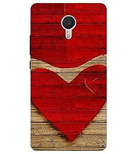 Chiraiyaa Designer Printed Premium Back Cover Case for Meizu M3 Note (heart boy girl friend valentine miss kiss wooden) (Multicolor)